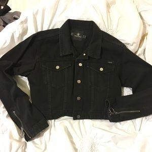 Volcom cropped jean denim jacket